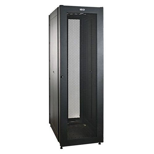 Tripp Lite SmartRack Enclosure Cabinets - 42U SmartRack 4 Interior Ertical Posts 2000 lbs Stationary Capacity Power Distribution Supports Cable Management - SR2000