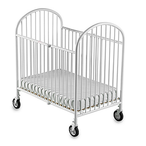 Foundations Pinnacle Compact Steel Folding Crib in White