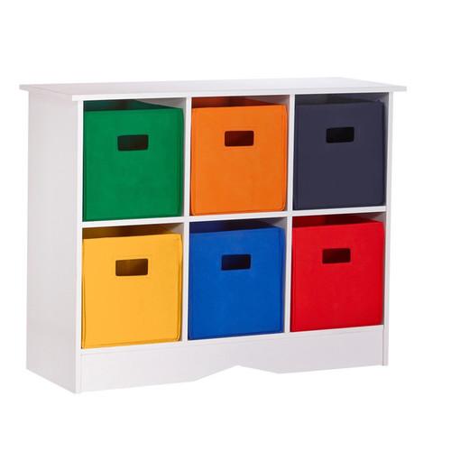 RiverRidge Home Products Kids' Storage & Toy Boxes RiverRidge Kids White 6-bin Bookcase Cabinet