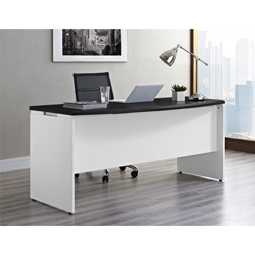 Dorel Pursuit White and Gray Executive Office Desk