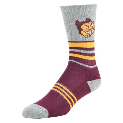 NCAA Mens Walk The Line Crew Socks - Arizona State Sun Devils