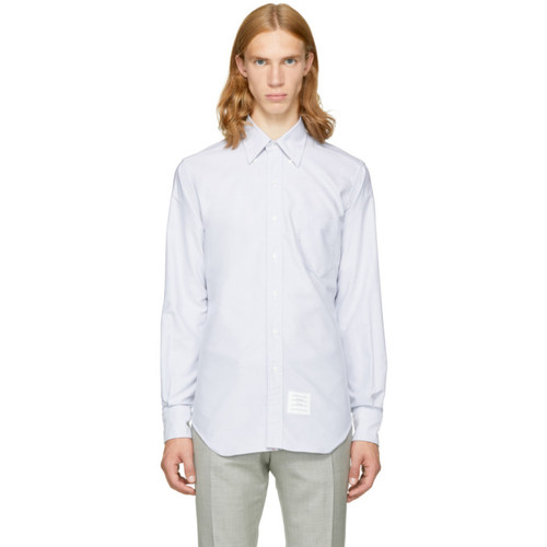 THOM BROWNE Grey Classic Button-Down Shirt