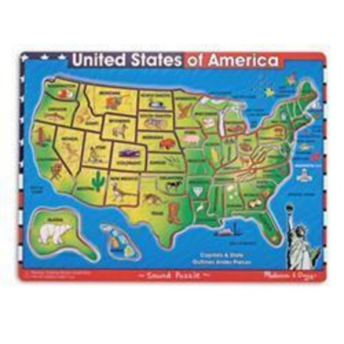 Melissa and Doug Toys: USA Map Puzzle