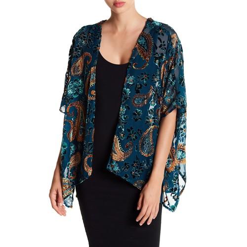 Velvet Beaded Kimono
