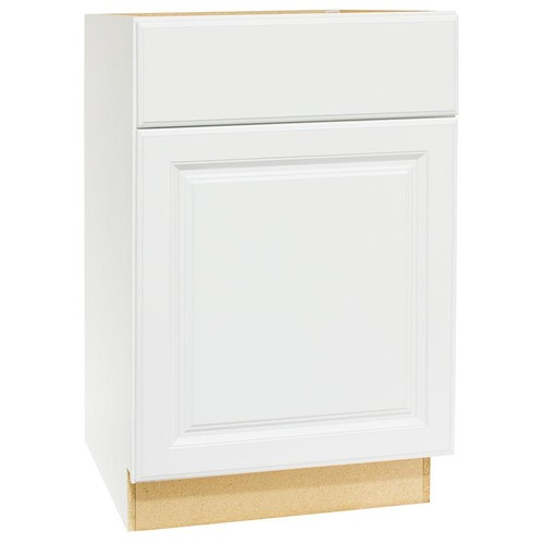 Hampton Bay Hampton Assembled 24 x 34.5 x 21 in. Base Bath Vanity Cabinet in Satin White
