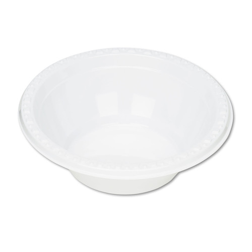 Tablemate TBL5244WH Plastic Dinnerware, Bowls, 5oz, White, 125/Pack