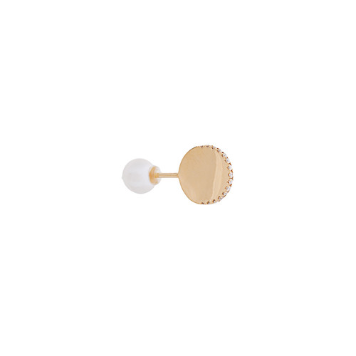 18kt gold ABC Stud Pearl earring