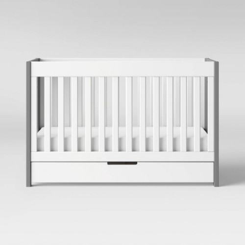 Babyletto Mercer 3 in 1 Convertible Crib Collection - Grey & [White]