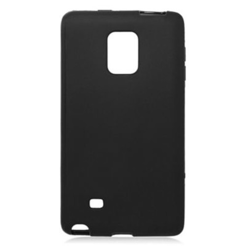 Insten Rubber TPU Gel Case For Samsung Galaxy Note Edge - Black