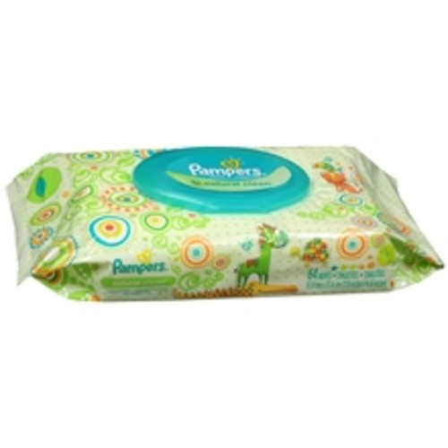 Pampers Natural Clean Baby Wipes Travel Pack Unscented