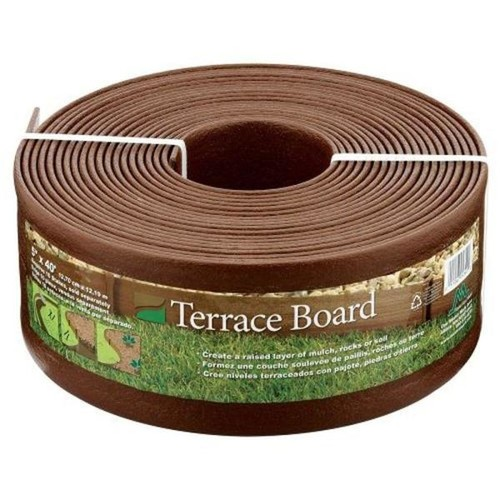Master Mark Terrace Board 5 in. x 40 ft. Brown Landscape Lawn Edging with Stakes