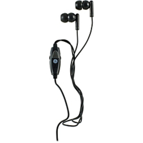 GE 98973 Voip In-Ear Headset with Inline Microphone and 2 Adapters - Stereo - Mini-phone - Wired - Earbud - Binaural - In-ear