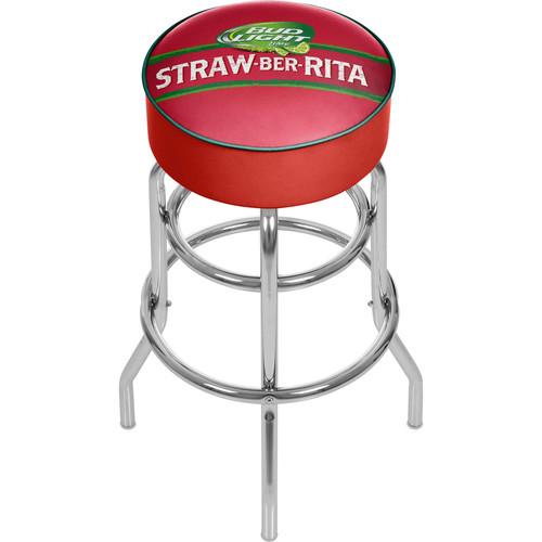 Bud Light Straw-Ber-Rita Padded Swivel Bar Stool