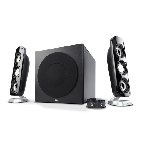 Cyber Acoustics 92W Powerful 2.1 Speaker System with Subwoofer, for Multimedia Gaming, Movies, and Music
