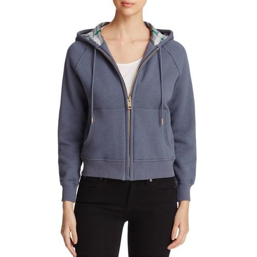 BURBERRY Neiva Zip Front Hooded Sweatshirt