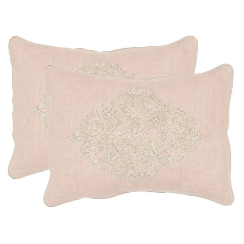 Safavieh Scroll 2-piece Linen Throw Pillow Set