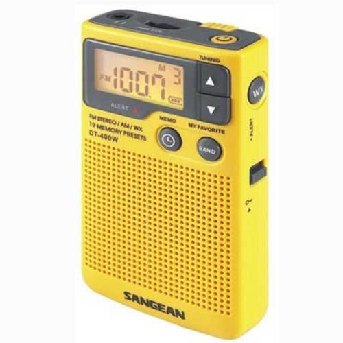 Sangean AM FM Aux weather alert Radio