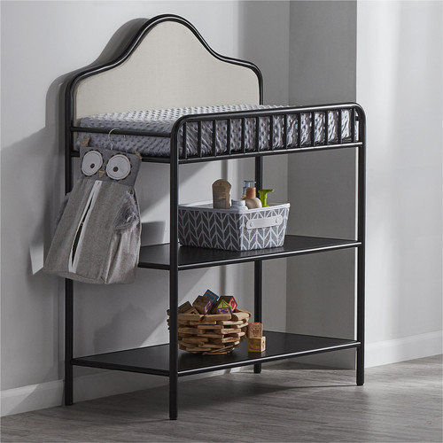 Little Seeds Piper Upholstered Changing Table - Black
