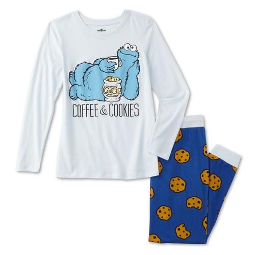 Sesame Street Cookie Monster Women's Pajama Shirt & Pants