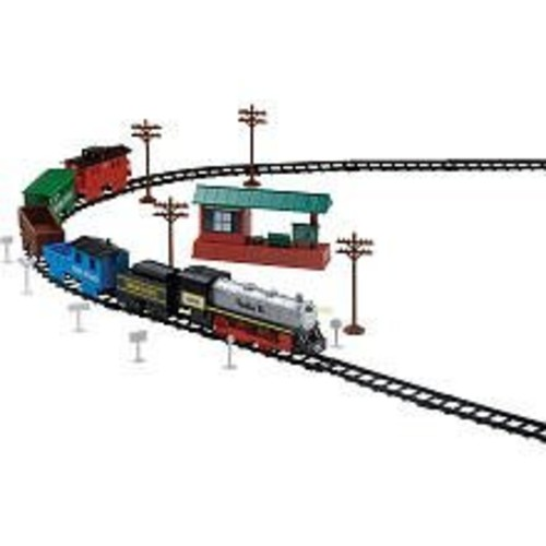 Battery Operated Santa Fe Train Set - 53 Piece Train Set