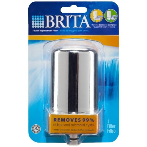 Brita On Tap Basic Water Faucet Filtration System Filter, Chrome [Chrome]