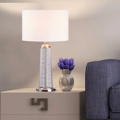 Catalina Lighting Malla Mesh Metal Table Lamp