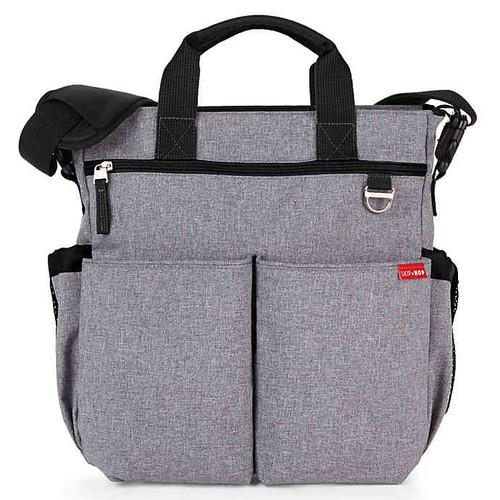 SKIP*HOP Duo Signature Diaper Bag in Heather Grey