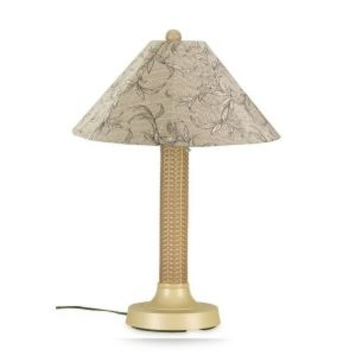 Patio Living Concepts Bahama Weave 34 in. Mojavi Outdoor Table Lamp with Bessemer Shade