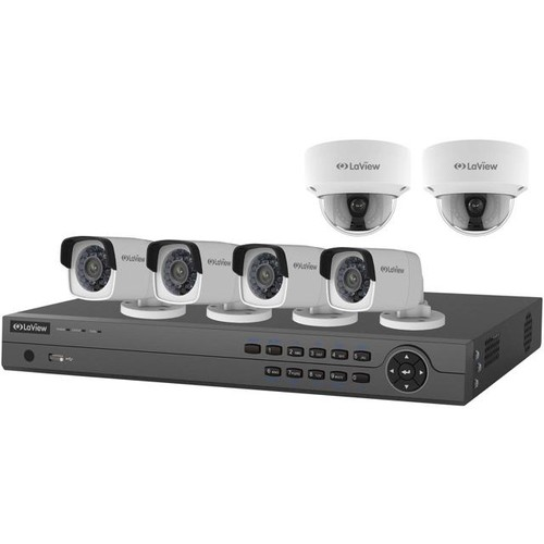 LaView 8 Channel 4K NVR with 2TB Hard Drive with 6x 4MP HD IP Cameras, 2x 4MP Dome IP Cameras and 4x 4MP IP Bullet Cameras with 100 night vision range