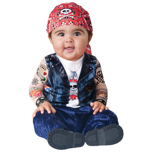 Totally Ghoul Halloween Baby Biker Infant Toddler Costume