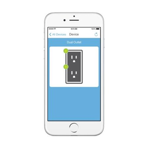 Insteon Remote Control Dual On/Off Outlet, White