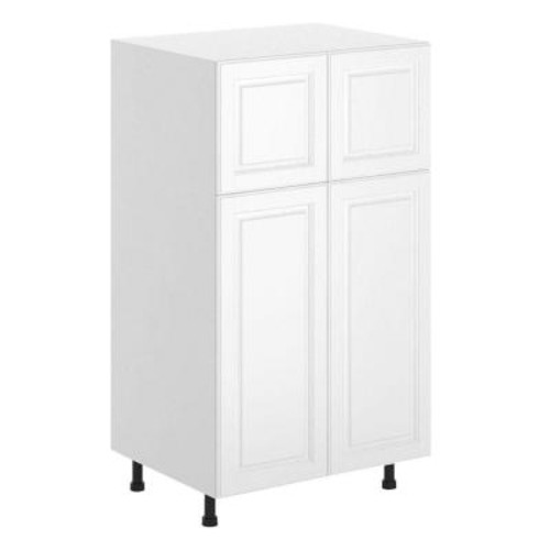 Fabritec Birmingham Ready to Assemble 30 x 49 x 24.5 in. Pantry/Utility Cabinet in White Melamine and Door in White