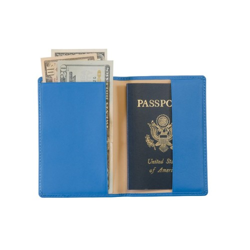 Royce Leather Debossed Passport Jacket, Royce Blue