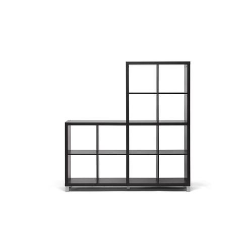 Baxton Studios Sunna Dark Brown Modern Cube Shelving Unit