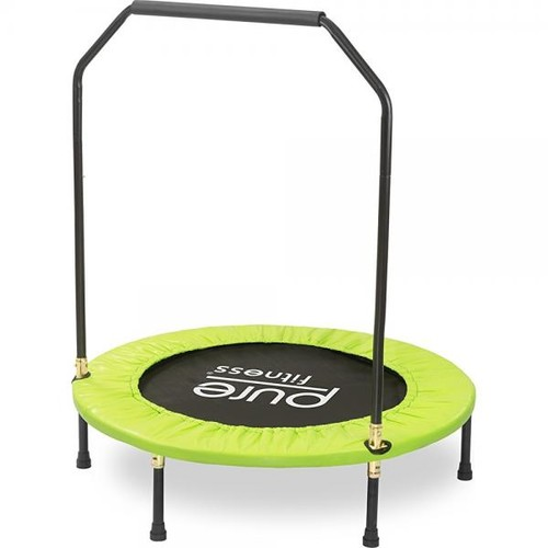 Pure Fitness 40 Mini Rebounder Trampoline with Adjustable Handrail, Ages 13+
