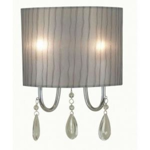 Kenroy Home Arpeggio 2-Light Chrome Sconce