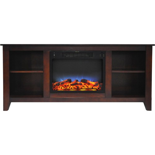 Cambridge Santa Monica 63 in. Electric Fireplace with Multi-Color LED Insert, Mahogany