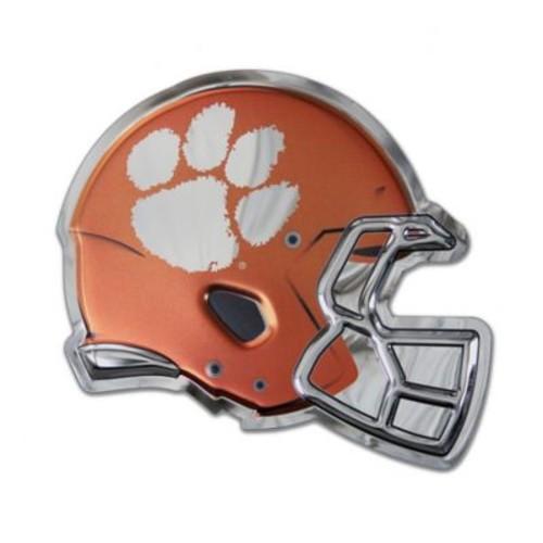 Clemson University Medium Football Helmet Wall Art in Orange/White