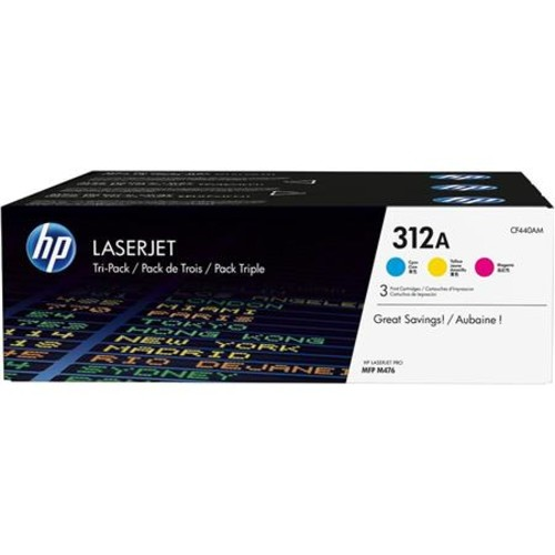 HP 312A Cyan/Magenta/Yellow Original Laser Toner Cartridge, 3 Pack