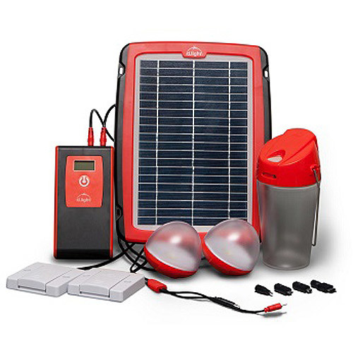 d.light 00406 - LED Solar Home Lighting System with Mobile Phone Charger (D20 SOLAR HOME SYSTEM)