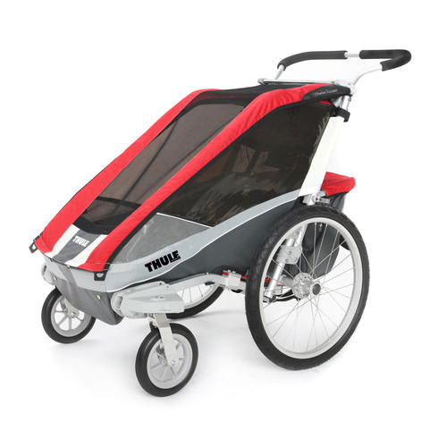 Thule Active with Kids Chariot Cougar 1 Multi-Sport Child Carrier with Strolling Kit - Red