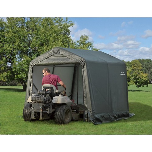 ShelterLogic Peak Style Shed/Storage Shelter  Green, 12ft.L x 8ft.W x 8ft.H, Model# 71814