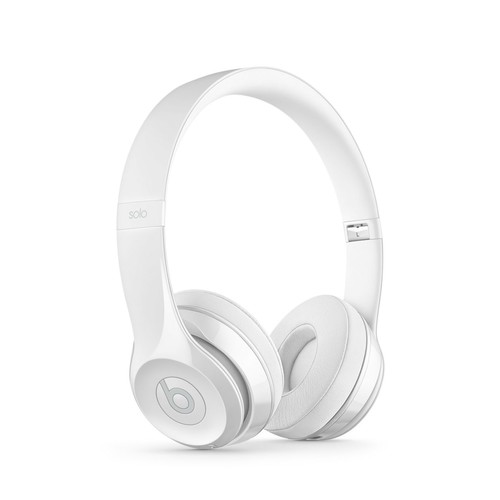 Beats Solo3 Bluetooth On-Ear Headphones with Mic Control - White
