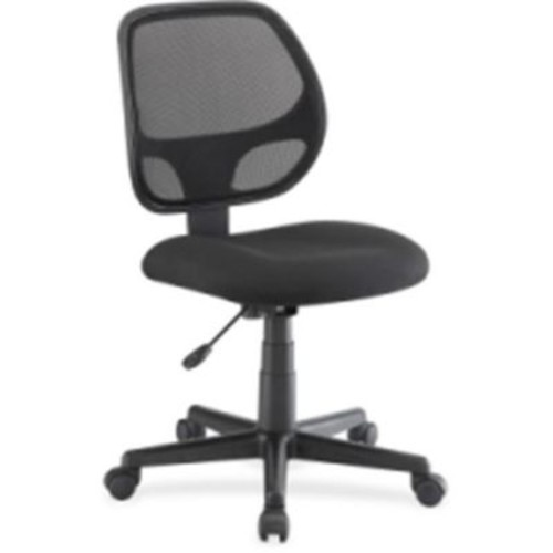 Lorell Fabric Computer and Desk Office Chair, Armless, Black (RTL156306)