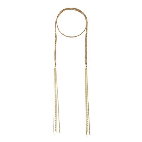 Nakamol Long Beaded Lariat Choker Necklace