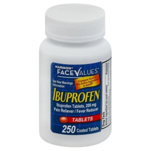 Harmon Face Values Ibuprofen 250-Count Tablets