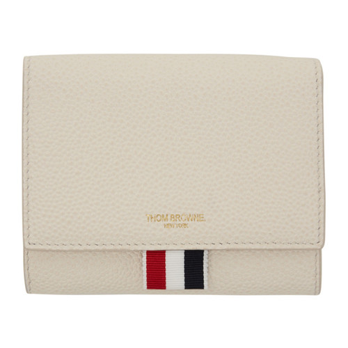 THOM BROWNE White Short Clasp Wallet