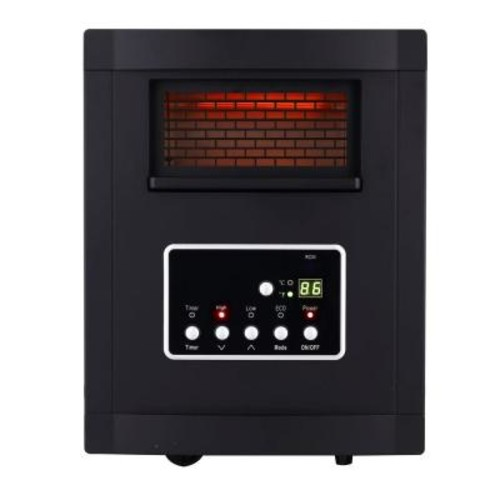 Global Air Products 1500-Watt Large Room Infrared Quartz Heater with Remote