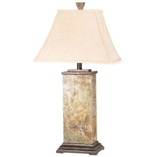 Kenroy Home Bennington Table Lamp with Natural-Slate Finish [Whites / Creams]