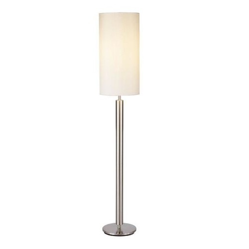 Adesso Hollywood 58 in. Satin Steel Floor Lamp